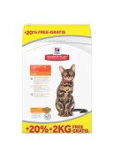 Afbeelding van 10+2 kg Hills Feline Adult Light Kip ...