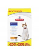 Afbeelding van 10+2 kg Hills Feline Mature Adult Kip ...