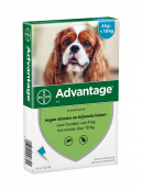 Afbeelding van Advantage 100 Hond 4 10 kg Pipetten...
