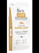 Afbeelding van Brit Care Senior Light Salmon Potato Grain Free 12 kg...