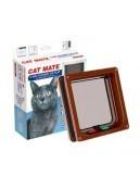 Afbeelding van op=op Catmate Kattendeur 235 Bruin 4 voudig afsluitsysteem...