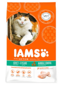 Afbeelding van 10 kg Iams Cat Hairball Control Kip...